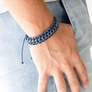 Racer Edge Blue Paparazzi Bracelet